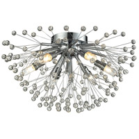 Starburst 6 Light 19 inch Polished Chrome Semi Flush Ceiling Light