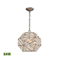 Constructs LED 13 inch Weathered Zinc Chandelier Ceiling Light