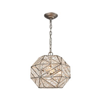 Constructs 3 Light 13 inch Weathered Zinc Chandelier Ceiling Light in Standard