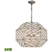 ELK 11837/8-LED Constructs LED 20 inch Weathered Zinc Chandelier Ceiling Light