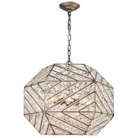 ELK 11837/8 Constructs 8 Light 20 inch Weathered Zinc Chandelier Ceiling Light in Incandescent