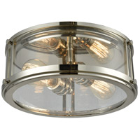 Coby 2 Light 13 inch Polished Nickel Flush Mount Ceiling Light