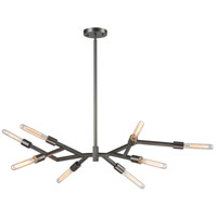 Freeform 8 Light 15 inch Dark Graphite Chandelier Ceiling Light