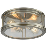 Elk Lighting Coby 2 Light Flush Mount in Brushed Nickel 11860/2