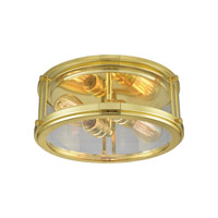 Coby 2 Light 13 inch Polished Gold Flush Mount Ceiling Light