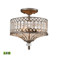 Elk Lighting Paola LED Semi Flush Mount in Weathered Zinc 11885/3-LED