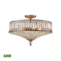 Paola LED 23 inch Weathered Zinc Semi Flush Mount Ceiling Light