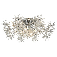ELK 11892/13 Snowburst 13 Light 32 inch Polished Chrome Semi Flush Mount Ceiling Light