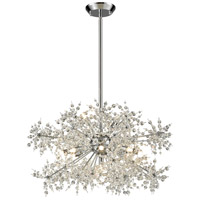 Snowburst 11 Light 28 inch Polished Chrome Chandelier Ceiling Light