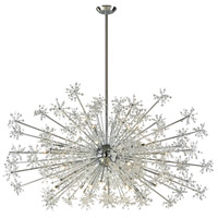 Snowburst 30 Light 72 inch Polished Chrome Chandelier Ceiling Light
