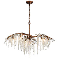 Elia 6 Light 32 inch Spanish Bronze Chandelier Ceiling Light