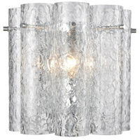 ELK 11910/1 Glass Symphony 1 Light 10 inch Polished Chrome Sconce Wall Light