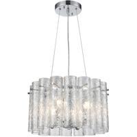 ELK 11912/4 Glass Symphony 4 Light 17 inch Polished Chrome Pendant Ceiling Light