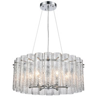 ELK 11913/6 Glass Symphony 6 Light 23 inch Polished Chrome Pendant Ceiling Light