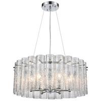 ELK 11913/6 Glass Symphony 6 Light 23 inch Polished Chrome Pendant Ceiling Light