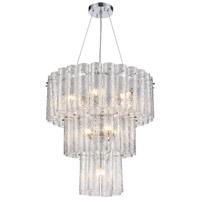 ELK 11914/6+4+1 Glass Symphony 11 Light 25 inch Polished Chrome Pendant Ceiling Light