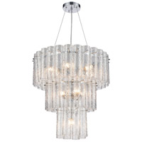 Glass Symphony 11 Light 25 inch Polished Chrome Pendant Ceiling Light
