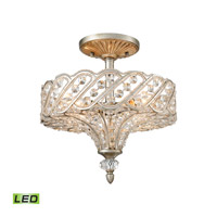 Cumbria LED 13 inch Aged Silver Semi Flush Mount Ceiling Light