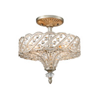 Cumbria 4 Light 13 inch Aged Silver Semi Flush Mount Ceiling Light in Standard