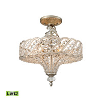 Elk Lighting Cumbria LED Semi Flush Mount in Aged Silver 11923/6-LED