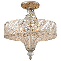 Elk Lighting Cumbria 6 Light Semi Flush Mount in Aged Silver 11923/6