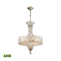 Cumbria LED 17 inch Aged Silver Chandelier Ceiling Light