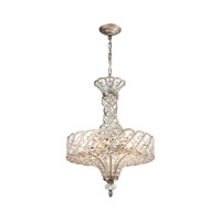 Cumbria 6 Light 17 inch Aged Silver Chandelier Ceiling Light in Standard