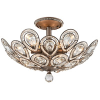 Evolve 6 Light 19 inch Weathered Zinc Semi Flush Mount Ceiling Light in Standard