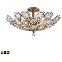 ELK 11932/8-LED Evolve LED 24 inch Weathered Zinc Semi Flush Mount Ceiling Light