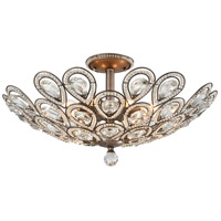 ELK 11932/8 Evolve 8 Light 24 inch Weathered Zinc Semi Flush Mount Ceiling Light in Incandescent