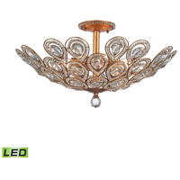 ELK 11933/8-LED Evolve LED 24 inch Matte Gold Semi Flush Mount Ceiling Light