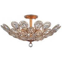 Evolve 8 Light 24 inch Matte Gold Semi Flush Mount Ceiling Light in Incandescent