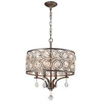 Evolve 4 Light 17 inch Weathered Zinc Chandelier Ceiling Light