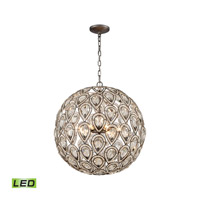Evolve LED 21 inch Weathered Zinc Chandelier Ceiling Light