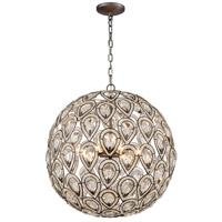 Evolve 8 Light 21 inch Weathered Zinc Chandelier Ceiling Light in Standard