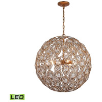 ELK 11936/8-LED Evolve LED 21 inch Matte Gold Chandelier Ceiling Light