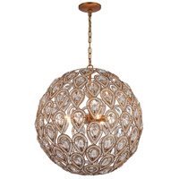 Evolve 8 Light 21 inch Matte Gold Chandelier Ceiling Light in Standard