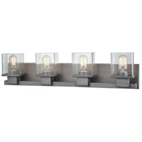 Hotelier 4 Light 30 inch Weathered Zinc Vanity Wall Light