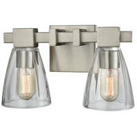 ELK 11981/2 Ensley 2 Light 12 inch Satin Nickel Vanity Light Wall Light