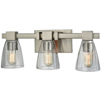 ELK 11982/3 Ensley 3 Light 20 inch Satin Nickel Vanity Light Wall Light