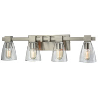 ELK 11983/4 Ensley 4 Light 28 inch Satin Nickel Vanity Light Wall Light