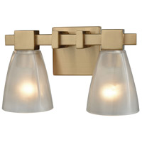 ELK 11991/2 Ensley 2 Light 12 inch Satin Brass Vanity Light Wall Light