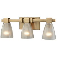 ELK 11992/3 Ensley 3 Light 20 inch Satin Brass Vanity Light Wall Light