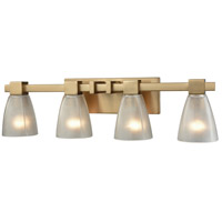 ELK 11993/4 Ensley 4 Light 28 inch Satin Brass Vanity Light Wall Light