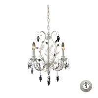 ELK Lighting Crystal Leaf 3 Light Chandelier in Antique White 12018/3-LA