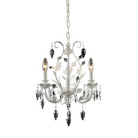 ELK Lighting Crystal Leaf 3 Light Chandelier in Antique White 12018/3