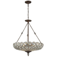 ELK 12025/6 Christina 6 Light 26 inch Mocha Semi Flush Mount Ceiling Light, Convertible