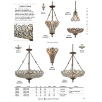 ELK 12025/6 Christina 6 Light 26 inch Mocha Semi Flush Mount Ceiling Light, Convertible alternative photo thumbnail
