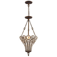 ELK 12032/3 Christina 3 Light 13 inch Mocha Chandelier Ceiling Light in Standard