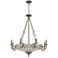 Elk Lighting Christina 12 Light Chandelier in Mocha 12034/8+4